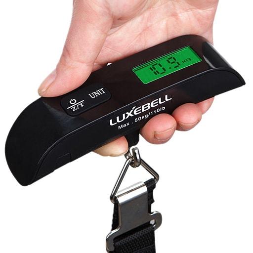 luxebell, la bilancia pesa bagaglio digitale compatta e portatile