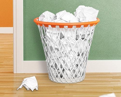 gadget per la casa cestino a forma di canestro da basket