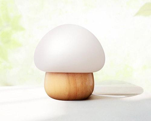 Lampada da notte a forma di fungo multicolore ideale per camera da letto o soggiorno