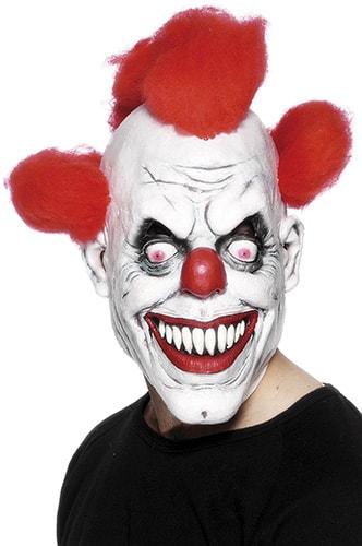 maschera da clown assassino per la festa di halloween