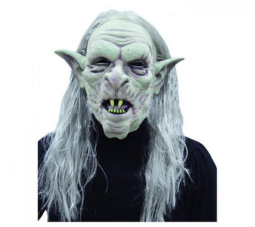 maschera per halloween in lattice da elfo zombie