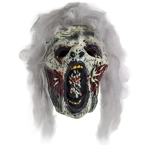 maschera per halloween raffigurante l'orribile signore delle larve