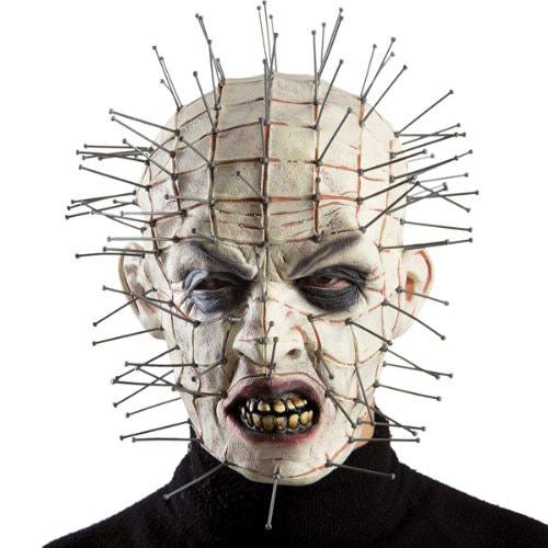 maschera per halloween pinhead interamente in lattice dal film hellraiser