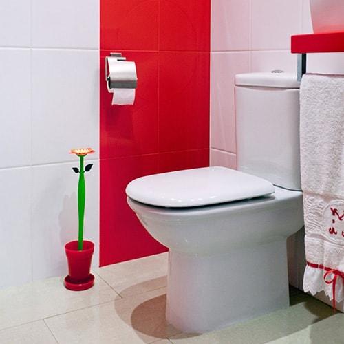scopino wc a forma di fiore carino e divertente
