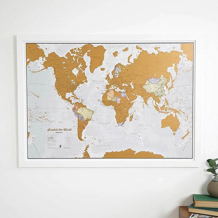 la mappa del mondo dove grattare via i posti dove siete stati