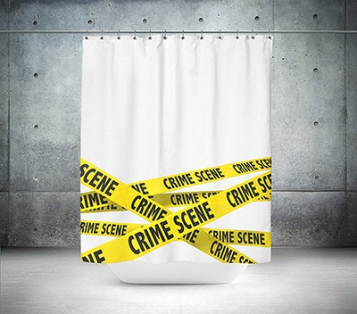 tenda per doccia e vasca crime scene